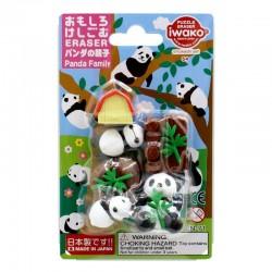 Set de gommes IWAKO - PANDA