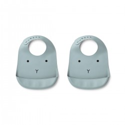 Bavoirs en Silicone - 2 Pack