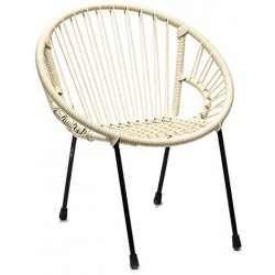 Chaise Blanche Pieds Noirs